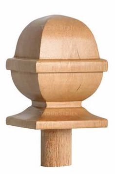 Best Stair Post Caps Ball Acorn Mushroom Pyramid Flat 640 x 480