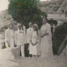 Olga and Anastasia at Archaeological site in Khersones, Crimea, 1913