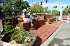 """Permanent Link to Sustainable Connections puts """"parklet"""" in downtown Bellingham"""