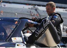 #BrianScott, driver of the #2 #ShoreLodgeChevrolet, gets in his car before qualifying for the #NASCAR #NationwideSeriesDover200 at Dover International Speedway | Photo by Matt Sullivan/Getty Images | #BrianScottNASCAR #RichardChildressRacing #ESPN