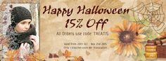 Halloween Offer on Aran Crafts.com, Save 15% with coupon code TREAT15. Coupon Codes, Happy Halloween, Irish, Coding, Crafts, Manualidades, Irish Language, Handmade Crafts, Ireland
