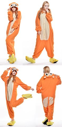 Animal Onesies Adult Orange Halloween Monkey Costumes Pyjamas Hot Sale 478fb3db5