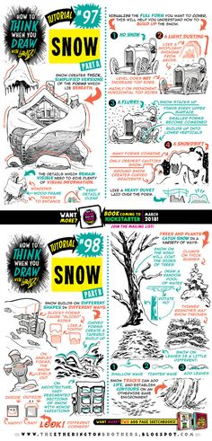 Today's tutorial is on how to draw SNOW! Just in case any of you are still designing your Christmas cards Tutorials BOOK coming to KICKSTARTER March How to draw SNOW tutorial 3d Drawing Techniques, Drawing Lessons, Drawing Tips, Drawing Reference, How To Draw Snow, You Draw, 3d Drawing Tutorial, Comic Tutorial, 3d Drawings