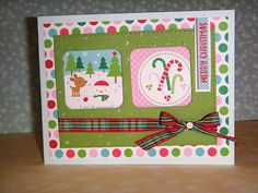 "HandmadebyRenuka: 1 kit -10 and more cards - SSS- ""Merry and Bright""card kit December 2016 - part 2"