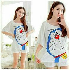St. Doraemon Batwing 60.000 Bahan spandek fit to XL
