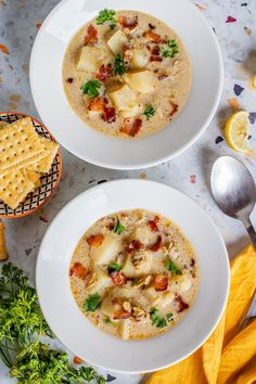 Save the recipe! Clam Chowder, Best Dishes, Clams, Recipe Of The Day, Cheeseburger Chowder, Stew, Risotto, Ethnic Recipes, Food