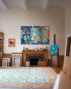 Inside Artist Françoise Gilot's Apartment and Art Studio Great Buildings And Structures, Modern Buildings, Upper West Side Apartment, Francoise Gilot, Georges Braque, Off The Wall, Studio Shoot, Exposed Brick, Magazine Design