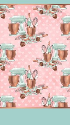 Baking Wallpaper, Cake Wallpaper, Easter Wallpaper, Cute Wallpaper For Phone, Trendy Wallpaper, Cute Wallpaper Backgrounds, Pink Wallpaper, Iphone Wallpaper, Flamingo Wallpaper