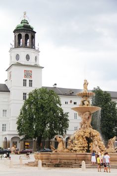 Hohensalzburg Castle,Salzburg,Austria - the fountain featured in the sound of music
