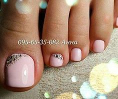 Mirror Glitter Nail Art Powder Nail Tips Beauty Nail Powder DIY. Pink Toe Nails, Feet Nails, Fancy Nails, Trendy Nails, My Nails, Pink Toes, Shellac Toes, Gel Toe Nails, Painted Toe Nails