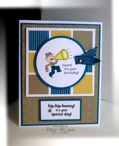 great male card - I love the colour combinations this lady uses they are so clean and wow!