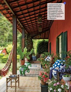 This Is Happening: South American Splendor Outdoor Rooms, Outdoor Gardens, Outdoor Living, Outdoor Decor, Deco Boheme Chic, American Splendor, Hacienda Style, Mexican Style, Spanish Style