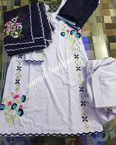 Com Acrylic pour painting - My Life Hane Program Punjabi Suit Boutique, Boutique Suits, Embroidery Suits Punjabi, Embroidery Suits Design, Salwar Designs, Kurti Neck Designs, Designer Punjabi Suits, Indian Designer Wear, Embroidery On Clothes