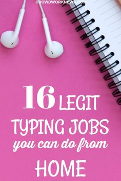 Not all typing job are scams. Here is a list of very legitimate typing jobs you can do from home. You can scale up your typing skills and earn from home as transcriber as well. Click through to check out which companies hire for data entry jobs. #typing #sidehustle #workfromhome #jobs
