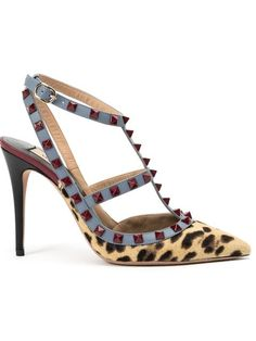 Shop Valentino Garavani 'Rockstud' leopard pumps in Hirshleifers from the world's best independent boutiques at farfetch.com. Shop 300 boutiques at one address.