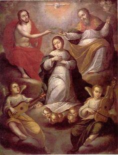 La coronación de la Virgen por la Trinidad - Gregorio Vasquez de Arce y Ceballos