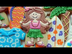 Flour Box Bakery — How to Decorate a Hula Girl Cookie