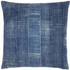 Vintage Denim Pillow - stripes - simple:) like