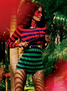 concede already, stripes of all kind. >> Elle: February 2013Cris Urena by KT Auleta