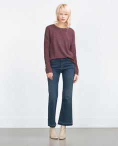 011b26f93131 TEXTURED SWEATSHIRT Zara Official Website