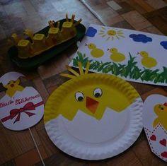 Tvořeníčko – kuřátka a sladká tečka :-D - VašeDěti. Diy And Crafts, Kids Crafts, Retro Gamer, Egg Hunt, Paper Plates, Easter Crafts, Easter Eggs, Preschool, Mexican