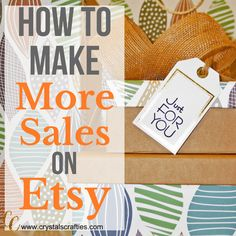 How to make more sales on Etsy