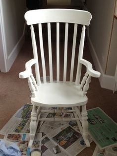 Wilfing My Life Away.musings Of A SAHM   Rocking Chair Makeover Using Annie  Sloan Chalk Paint In Old White: