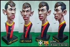 Neymar..resin.Bust Statue Caricature by BUDAMODEL on Etsy