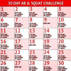 30 Day Ab & Squat Challenge - Healthy Fitness Workout Awesome