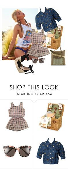 """""""disdressed bbq by roxariaone"""" by roxariaone ❤ liked on Polyvore featuring Gentle Monster, Moschino, Raye, denim, personalstyle, polyvorecontest, womanfashion and disdressedjeans"""