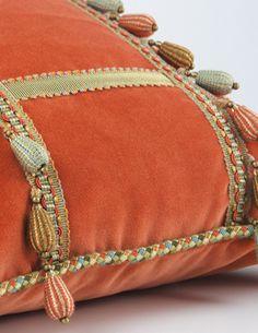 Adorn pillows with fantastic fringe! Monaco Collection by BRIMAR. #brimar  #trim  #fringe