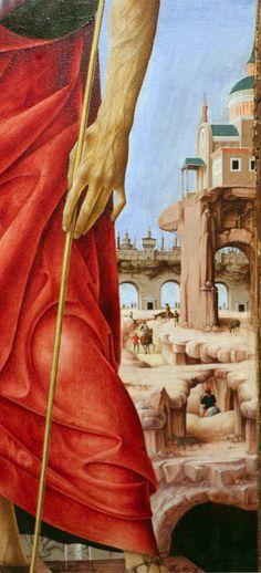 Francesco del Cossa - San Giovanni Battista (Polittico Griffoni), dettaglio - 1473 - Pinacoteca di Brera, Milano