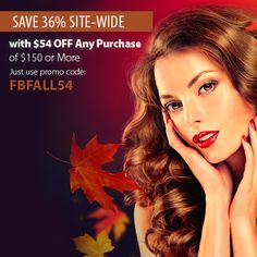 Fall into Savings with 36% OFF site-wide! Get $54 OFF $150 with promo code: FBFALL54.   Shop now: socaporiginalusa.com   #socap #sobehair #hair #extensions #hairextensions #love #beauty #classic #longhair #long #brunette #blonde #black #edgy #gorgeous #women #style #trend #hairandmakeup #stylist #haircut #fashion #highlights #blowdry #straight #curly #wavy #bangs #ombre #inspiration #haircolor #color #people #promo #code #fall #october #autumn #leaves #discount #sale