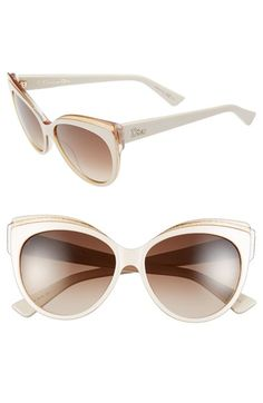 Free shipping and returns on Christian Dior 56mm Cat Eye Sunglasses at Nordstrom.com. A transparent browline accentuates the alluring cat-eye profile of gradient-lens Italian sunglasses, while a glittery lining provides a flash of unexpected glamour.