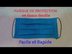 Protective mask fabric double - easy and quick to make Diy Mask, Diy Face Mask, Protective Mask, Free Sewing, Diy Clothes, Sewing Projects, Fashion Outfits, Crochet, Youtube