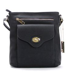 Whether you're taking a quick trip downtown or meeting friends for a weekend brunch, this stylish faux leather bag makes a classic complement to any outfi...