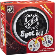 NHL Spot It Party Game is available now at FansEdge. Enjoy fast shipping and easy returns on all orders of [[product_name]]. Hockey Birthday Cake, Hockey Party, Ice Skating Party, Skate Party, Party Rock, Hockey Mom, Ice Hockey, Hockey Stuff, La Kings Hockey