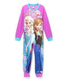 Another great find on #zulily! Fuchsia Frozen Footie - Girls by Frozen #zulilyfinds