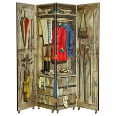 Folding Screen Designed By Piero Fornasetti, Italy. 1950's. | From a unique collection of antique and modern screens at https://www.1stdibs.com/furniture/more-furniture-collectibles/screens/