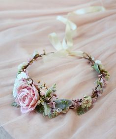 dusty pink flower crown bridal head pieces flower crown