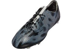 adidas F50 adiZero FG Soccer Cleats - Black and Silver