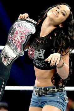 WWE AJ Lee divas champion   Beautiful WWE AJ Lee Loves Her Divas Championship Title - Angelica's ...