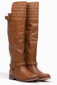 Breckelles Chesnut Fall Stud Knee High Rider Boot