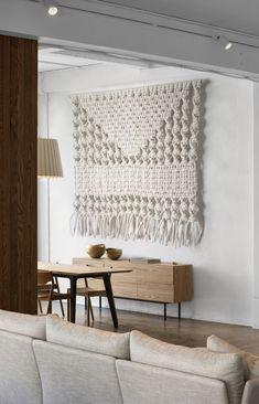 Handmade Wall Hanging - Extra Large - Soft White - Custom Made  - MacroMacrame