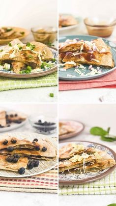 Elevate quesadillas with tasty combos like BBQ chicken, spinach and artichoke, brie and blueberry, as well as steak with caramelized onion.