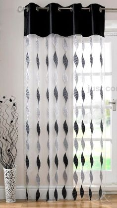 Just Contempo MODERN Eyelet Voile Panels Ring Top Voile Net Curtains Black (white silver grey) inches Curtains With Blinds, Home Room Design, Curtains Living Room, Black Curtains, Elegant Curtains, Living Room Decor Curtains, Curtain Fabrics Living Room, Curtains, Living Room Decor Modern