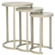 Safavieh Sawyer 3 Piece Nesting Table Set & Reviews | Wayfair
