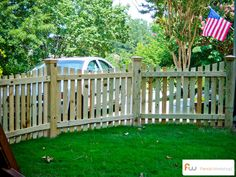The Harris ™ Scalloped Wood Picket Fence | Pictures & Per Foot Pricing