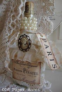 Coisas da Lívia: Inspiração: Garrafas decoradas...