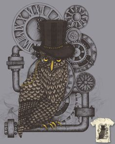 SteamPunk Owl  PLease vote!